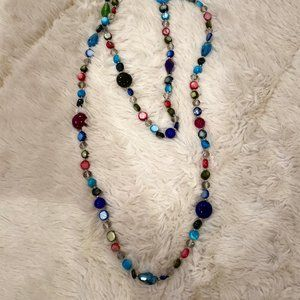 Multicolored Beaded Layering Necklace